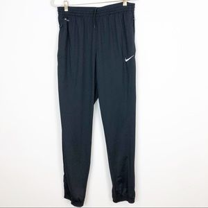 NIKE DRI-FIT BLACK ELASTIC WAIST ATHLETIC PANTS